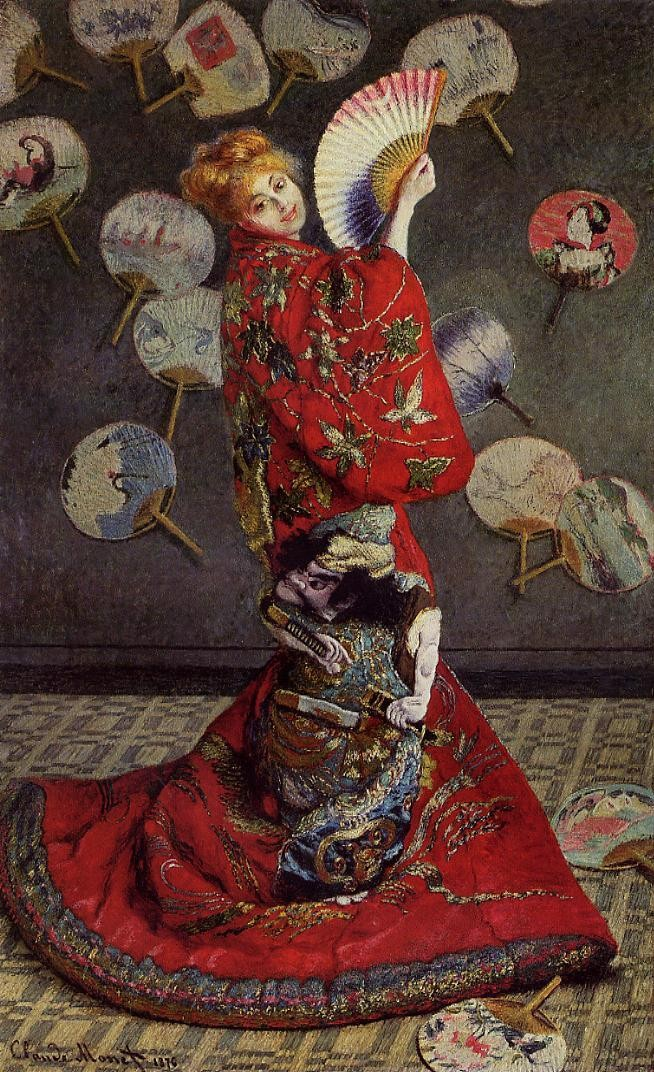 Camille Monet in Japanese Costume, Claude Monet